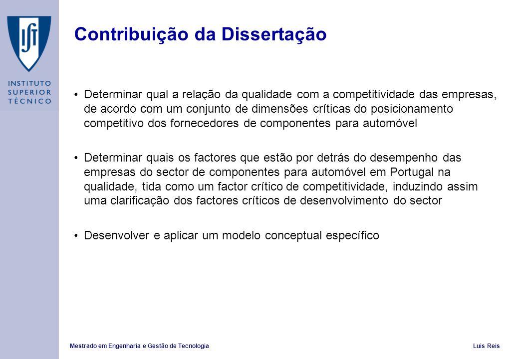 Contribuição da Dissertação
