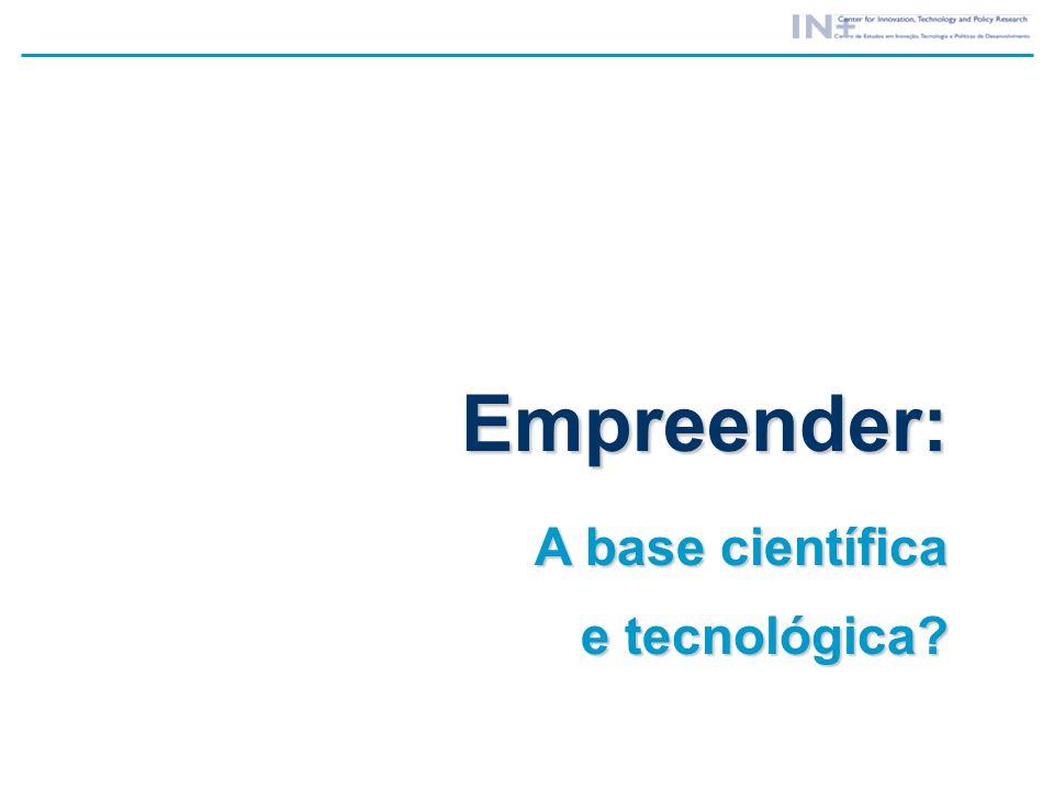 Empreender: A base científica e tecnológica