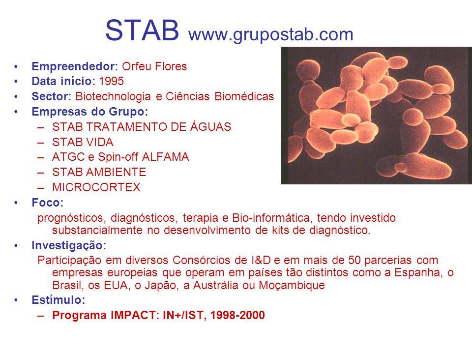 STAB www.grupostab.com Empreendedor: Orfeu Flores Data início: 1995