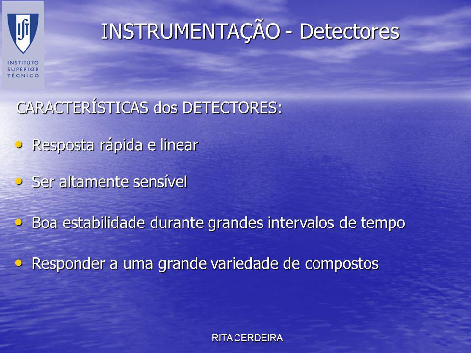 INSTRUMENTAÇÃO - Detectores
