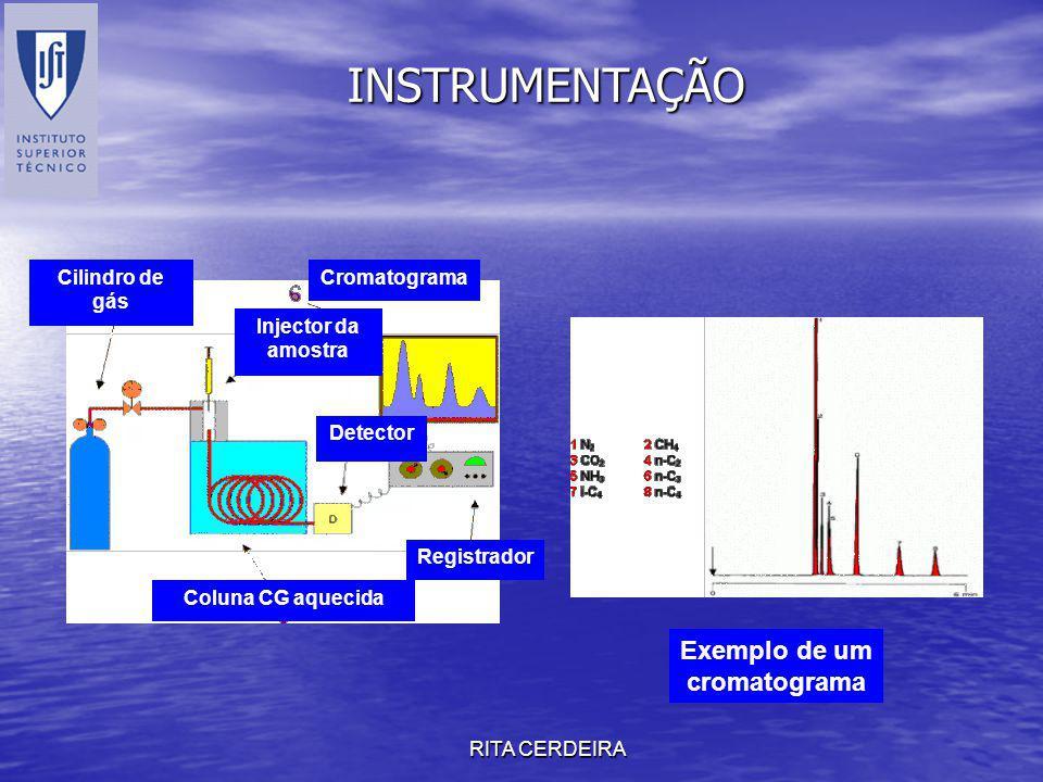 Exemplo de um cromatograma
