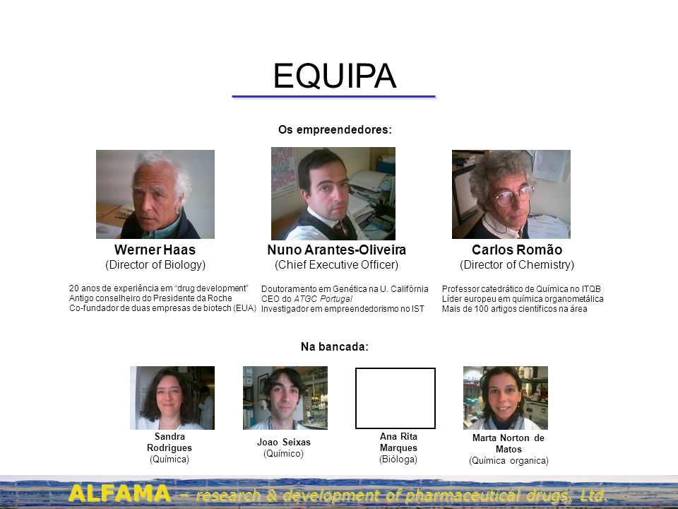 EQUIPA ALFAMA – research & development of pharmaceutical drugs, Ltd.