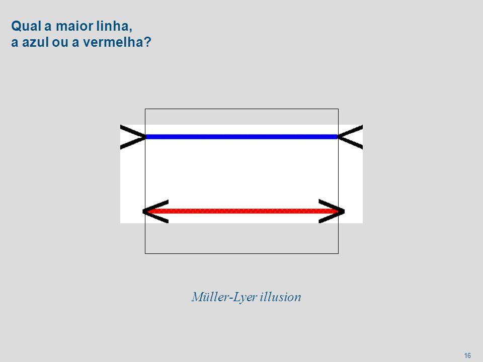 Qual a maior linha, a azul ou a vermelha
