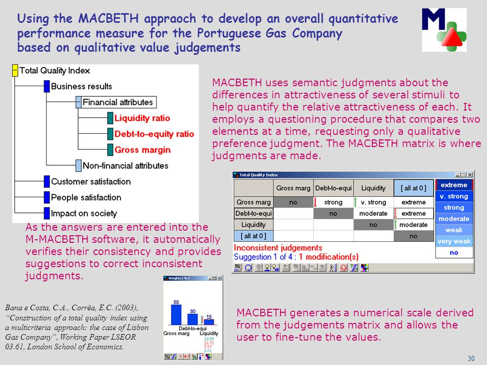 Using the MACBETH appraoch to develop an overall quantitative performance measure for the Portuguese Gas Company based on qualitative value judgements