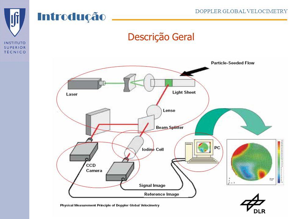 Introdução DOPPLER GLOBAL VELOCIMETRY Descrição Geral