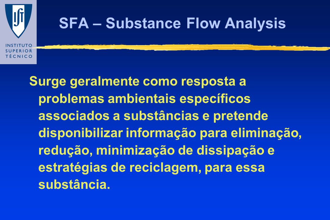 SFA – Substance Flow Analysis