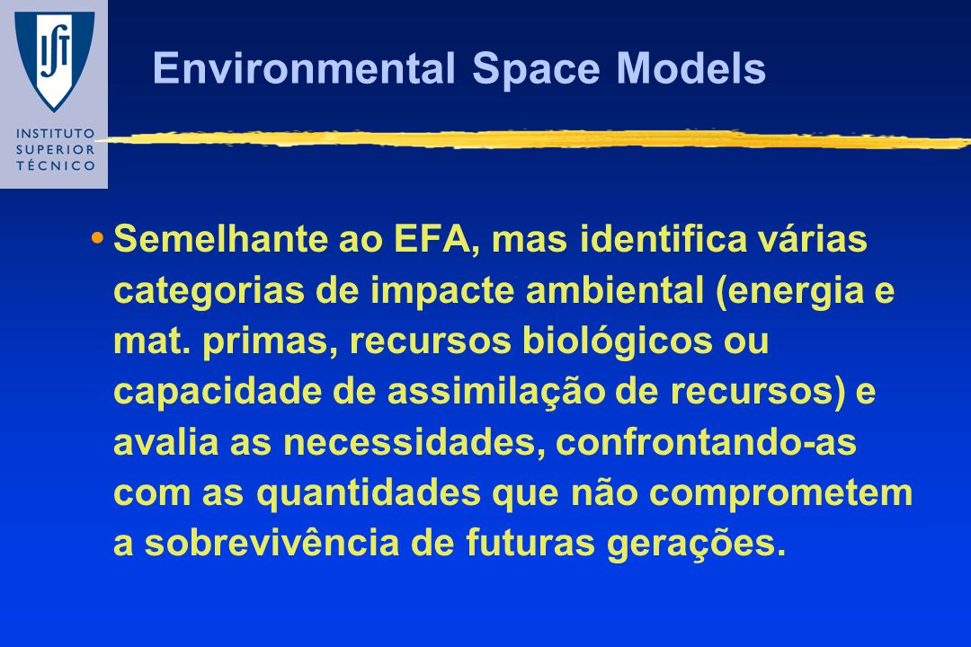 Environmental Space Models
