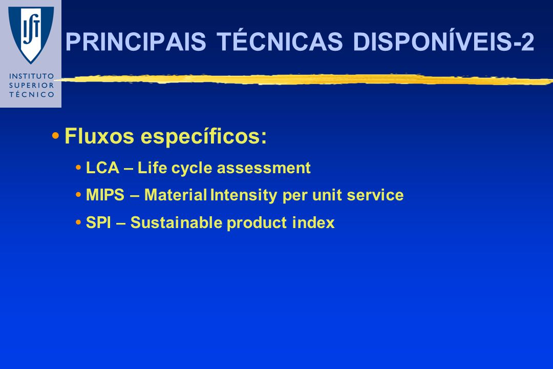 PRINCIPAIS TÉCNICAS DISPONÍVEIS-2