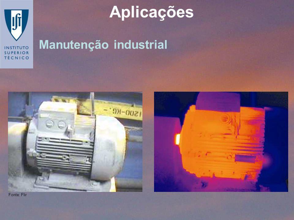 Aplicações Manutenção industrial Fonte: Flir