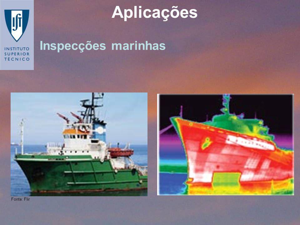 Aplicações Inspecções marinhas Fonte: Flir