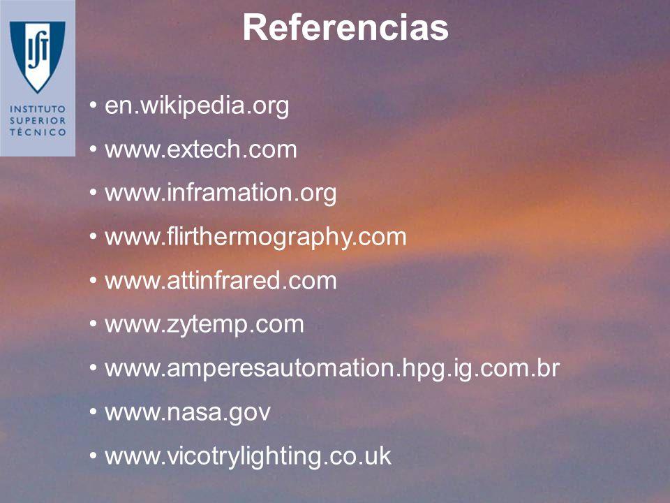 Referencias en.wikipedia.org www.extech.com www.inframation.org