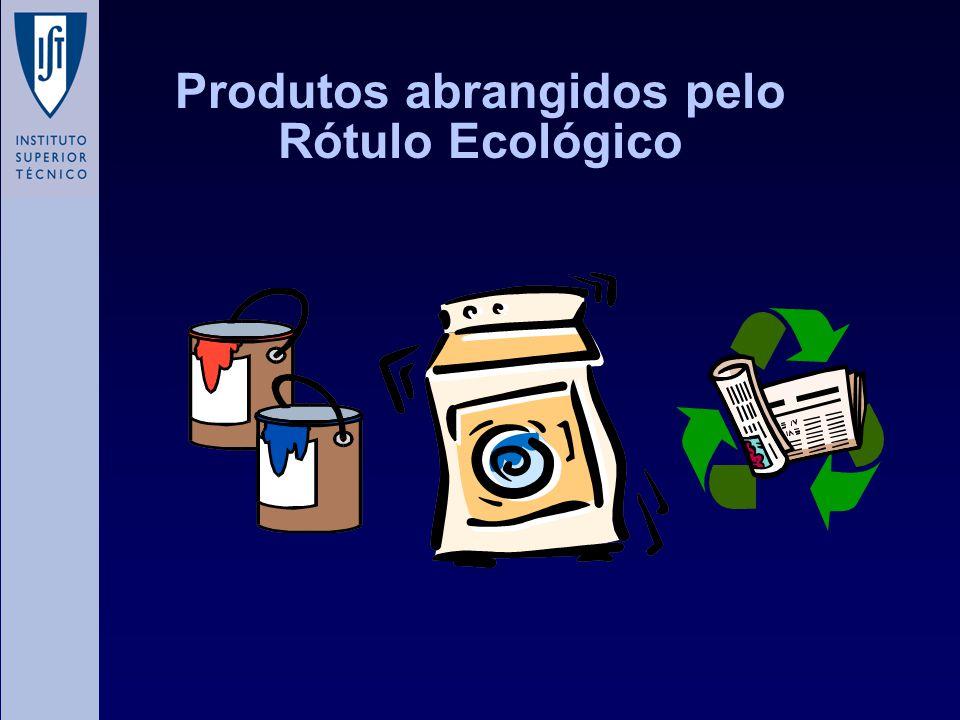Produtos abrangidos pelo Rótulo Ecológico