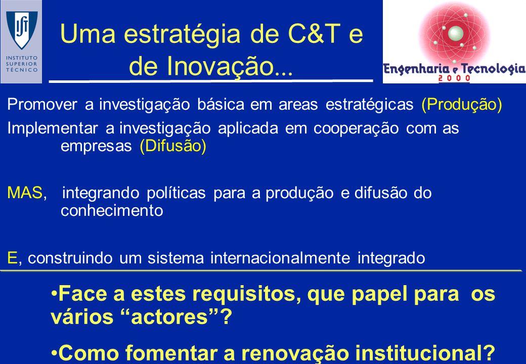 Uma estratégia de C&T e de Inovação...