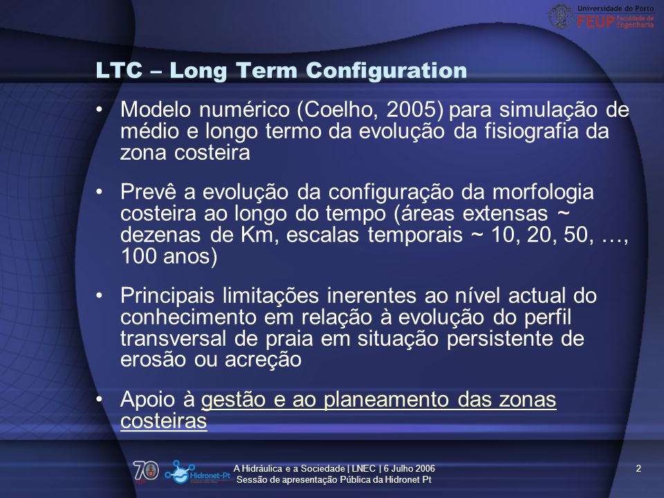 LTC – Long Term Configuration