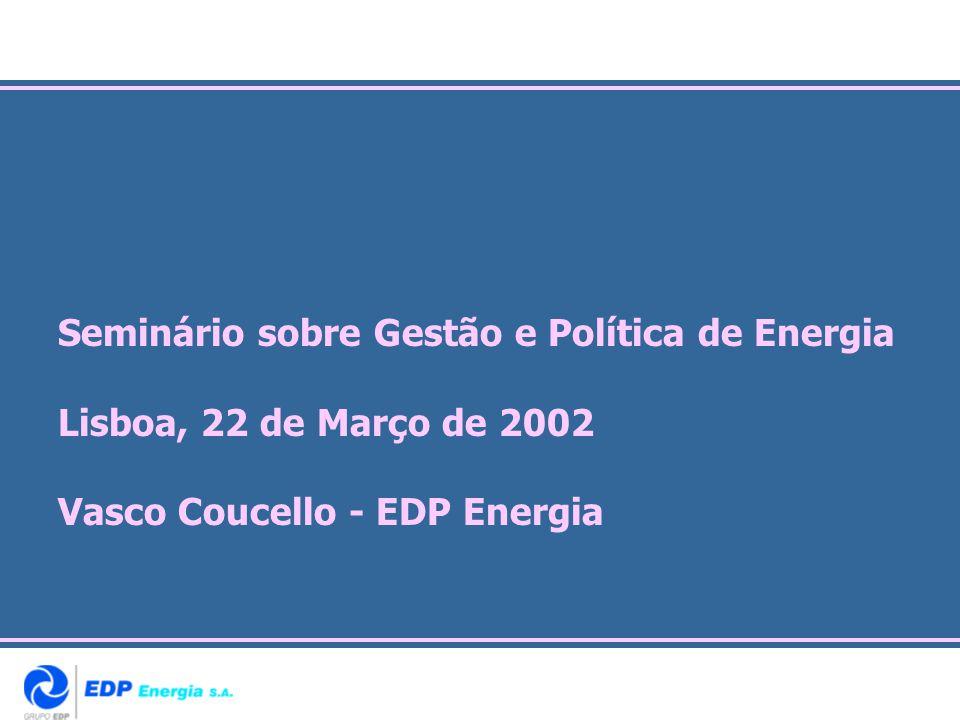 Seminário sobre Gestão e Política de Energia