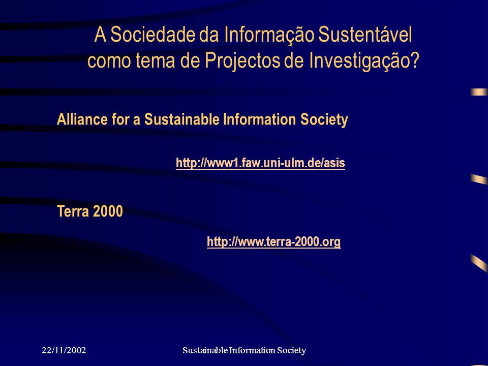 Sustainable Information Society
