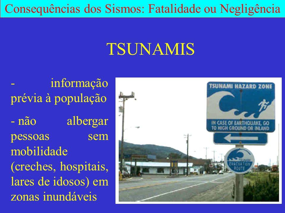 TSUNAMIS - informação prévia à população