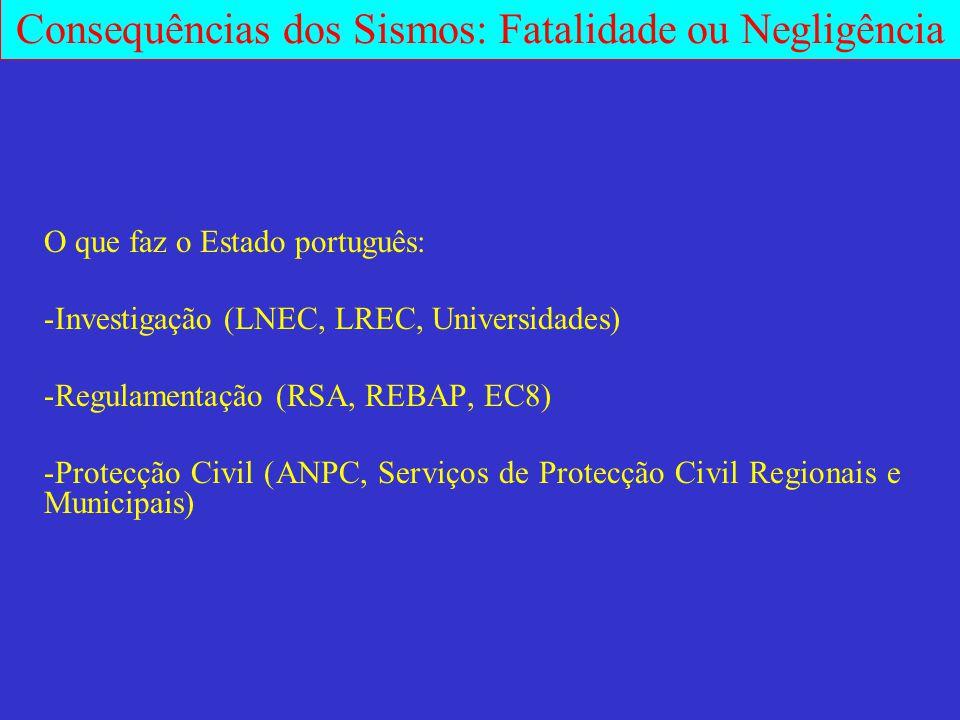 O que faz o Estado português: