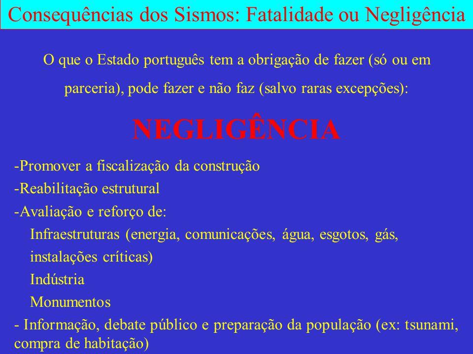 O que o Estado português tem a obrigação de fazer (só ou em parceria), pode fazer e não faz (salvo raras excepções): NEGLIGÊNCIA