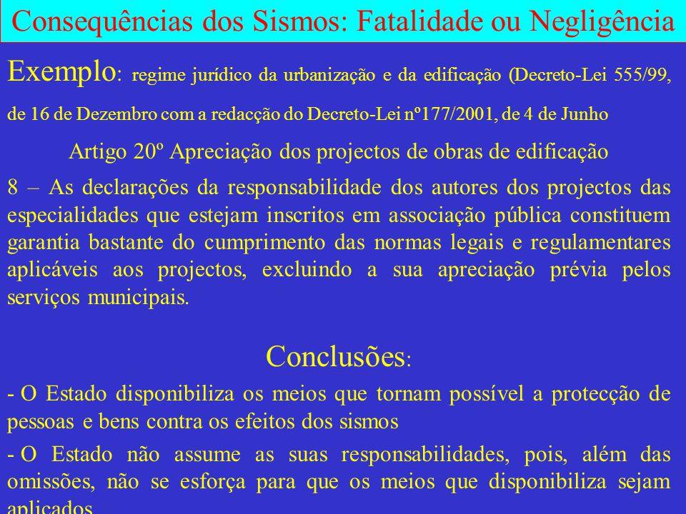 Artigo 20º Apreciação dos projectos de obras de edificação