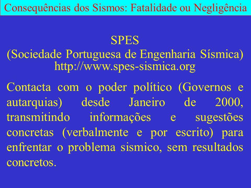 (Sociedade Portuguesa de Engenharia Sísmica)