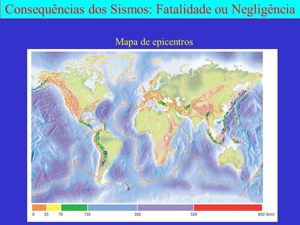 Mapa de epicentros