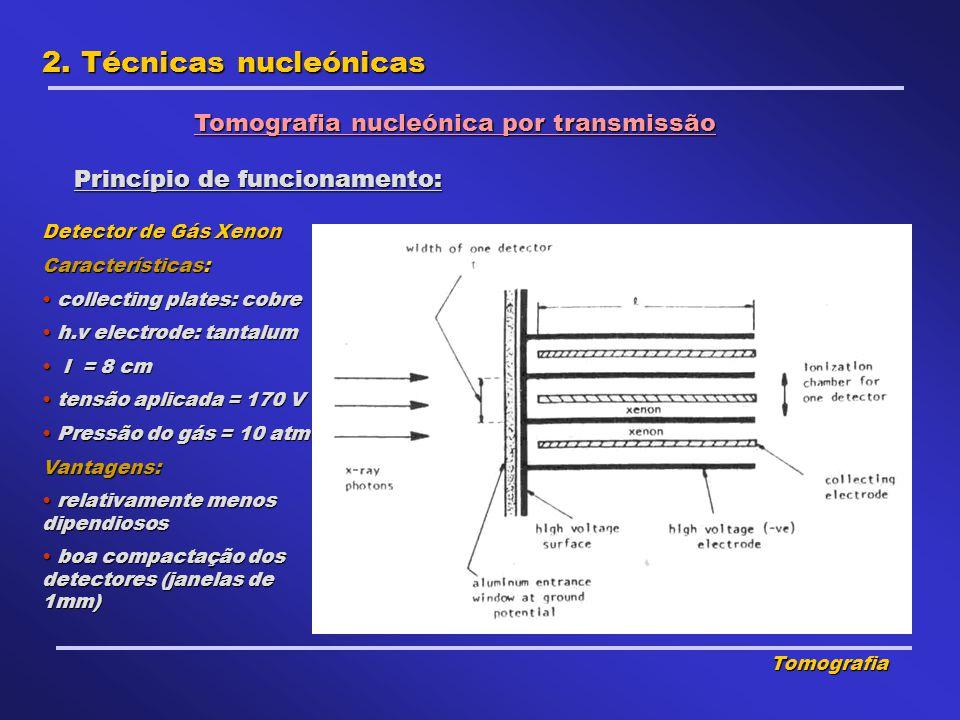 2. Técnicas nucleónicas Tomografia nucleónica por transmissão