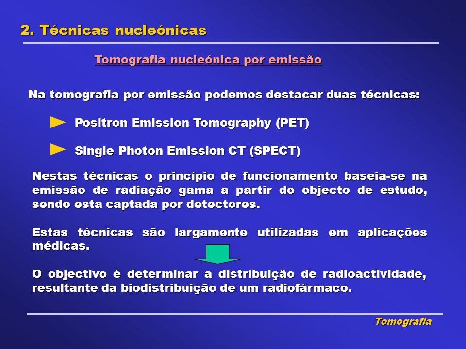 2. Técnicas nucleónicas Tomografia nucleónica por emissão