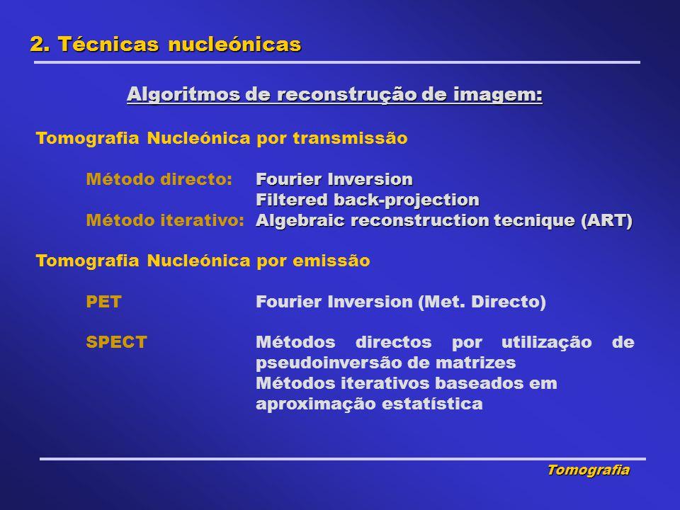 Algoritmos de reconstrução de imagem: