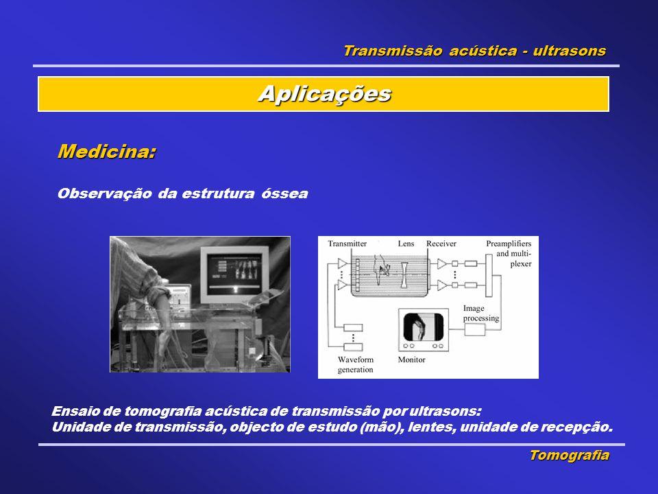 Aplicações Medicina: Transmissão acústica - ultrasons