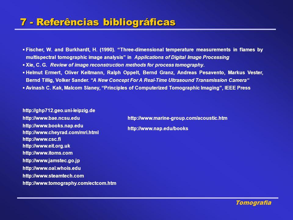 7 - Referências bibliográficas