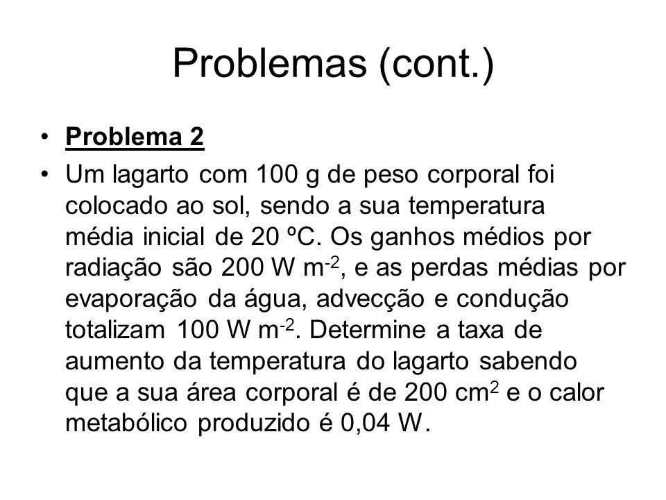 Problemas (cont.) Problema 2