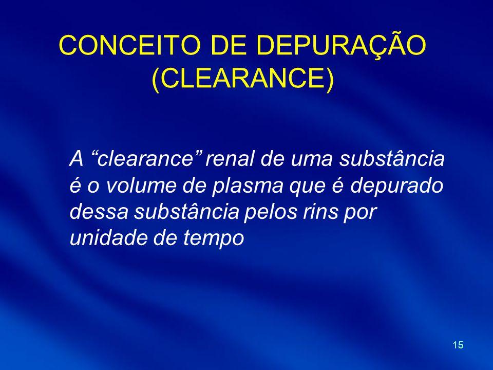 CONCEITO DE DEPURAÇÃO (CLEARANCE)