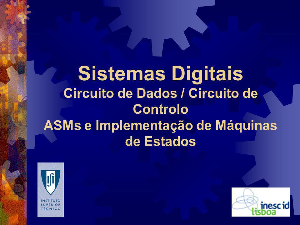 Sistemas Digitais Circuito de Dados / Circuito de Controlo ASMs e Implementação de Máquinas de Estados