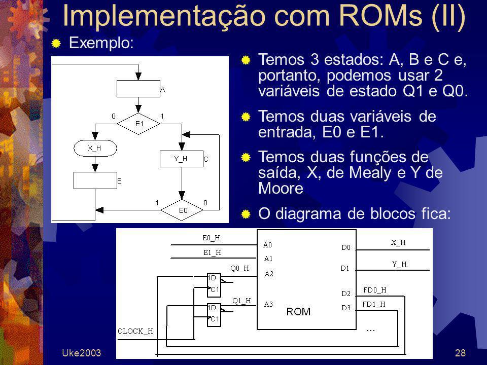 Implementação com ROMs (II)