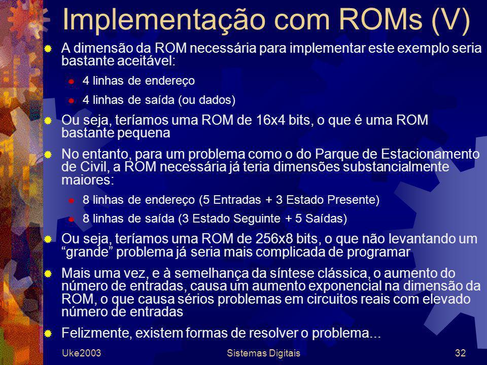 Implementação com ROMs (V)