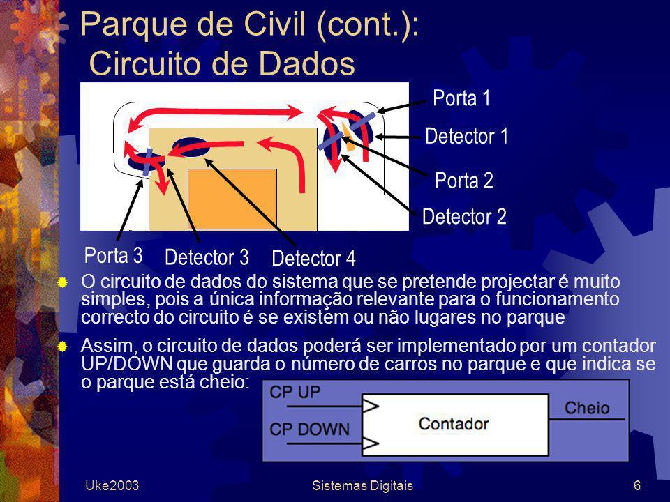 Parque de Civil (cont.): Circuito de Dados