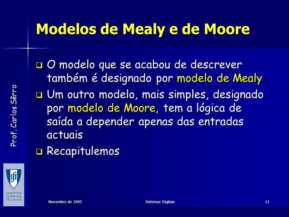 Modelos de Mealy e de Moore