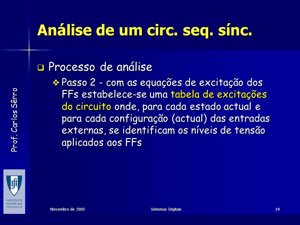Análise de um circ. seq. sínc.