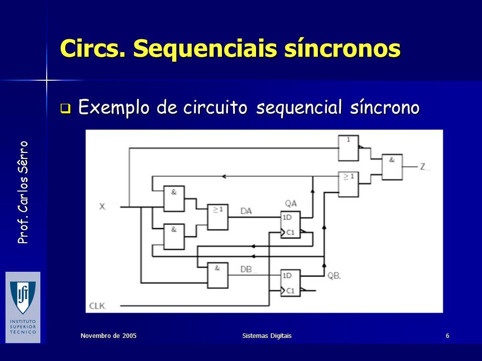 Circs. Sequenciais síncronos