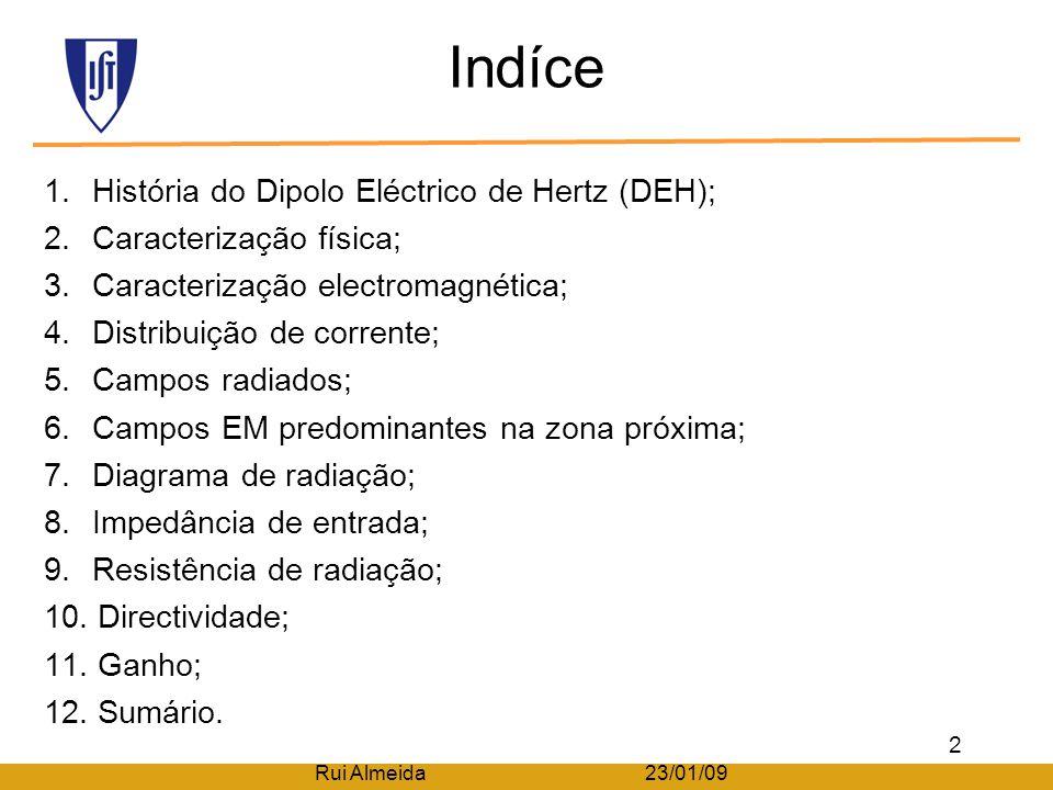 Indíce História do Dipolo Eléctrico de Hertz (DEH);