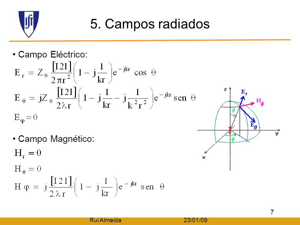 5. Campos radiados Campo Eléctrico: Campo Magnético: 7