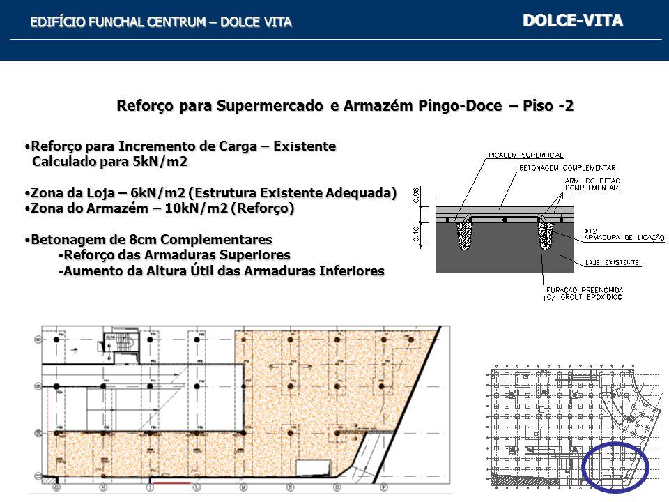 DOLCE-VITA Reforço para Supermercado e Armazém Pingo-Doce – Piso -2
