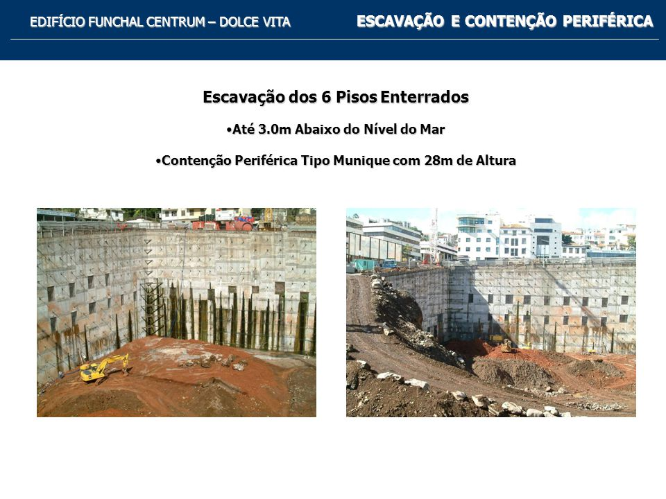Escavação dos 6 Pisos Enterrados