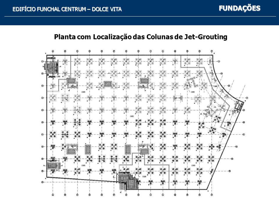 Planta com Localização das Colunas de Jet-Grouting