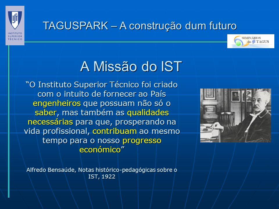 A Missão do IST TAGUSPARK – A construção dum futuro