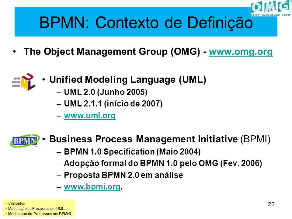 BPMN: Contexto de Definição