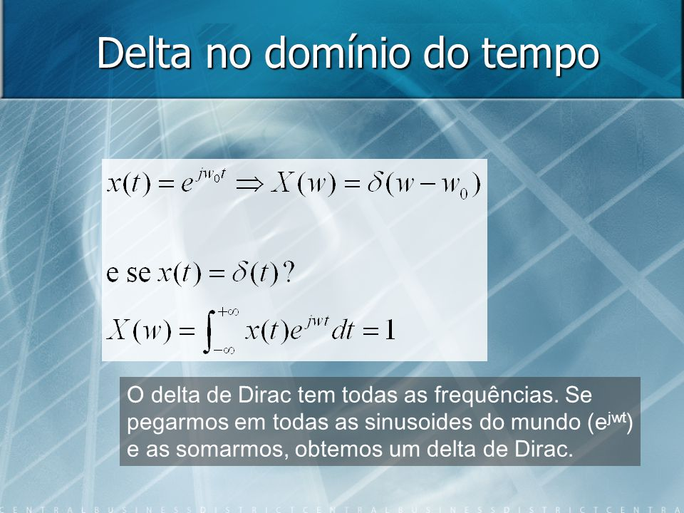 Delta no domínio do tempo