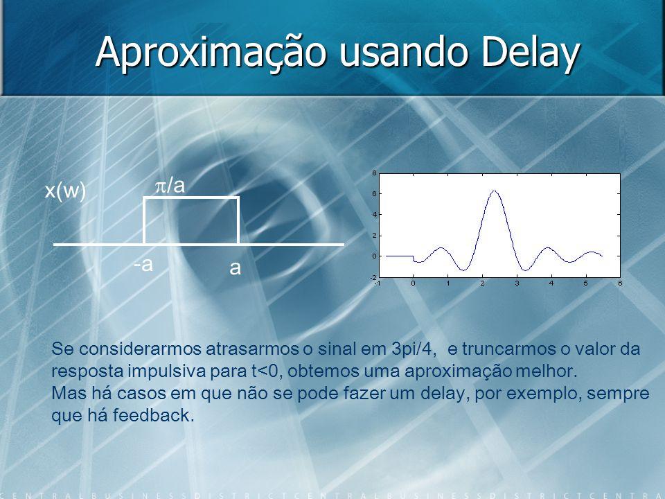 Aproximação usando Delay