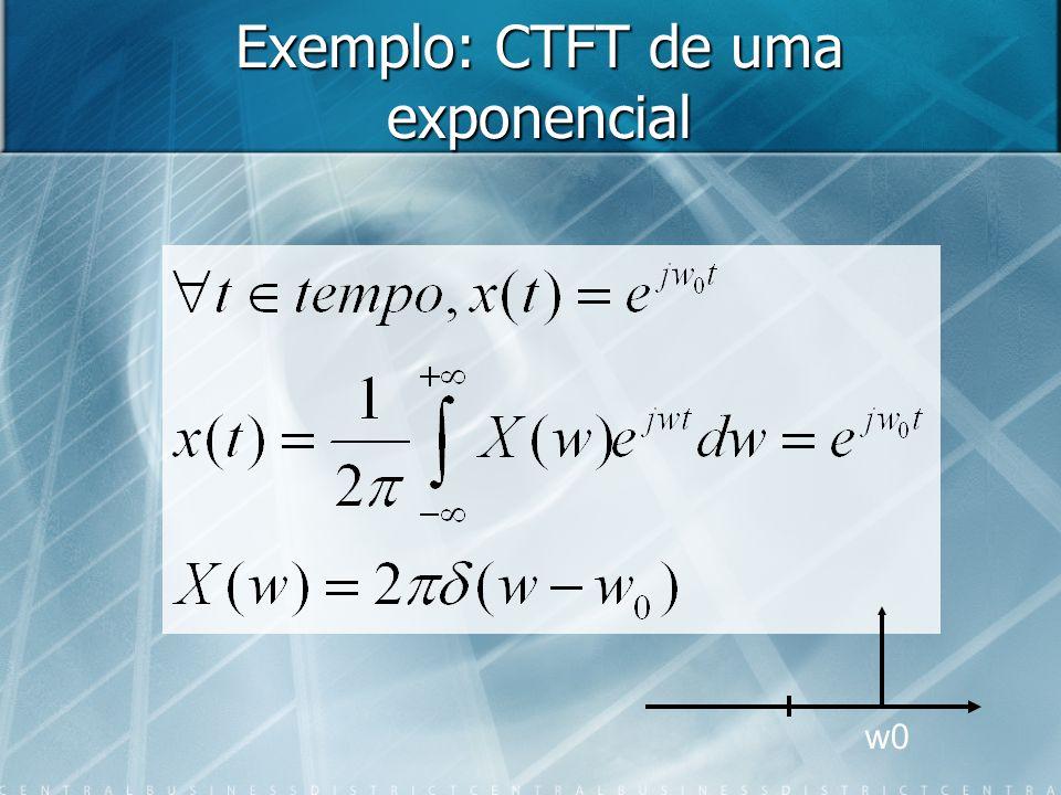 Exemplo: CTFT de uma exponencial